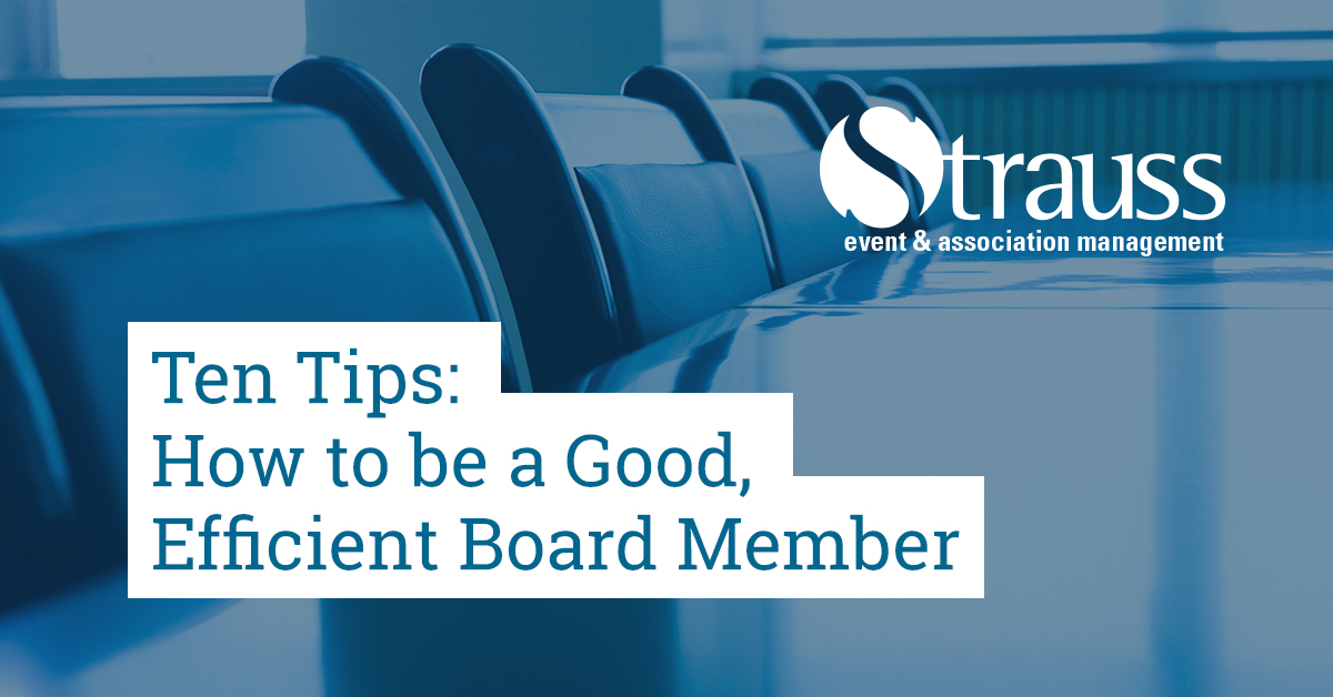 Ten Tips How to be a Good Efficient Board Member FB